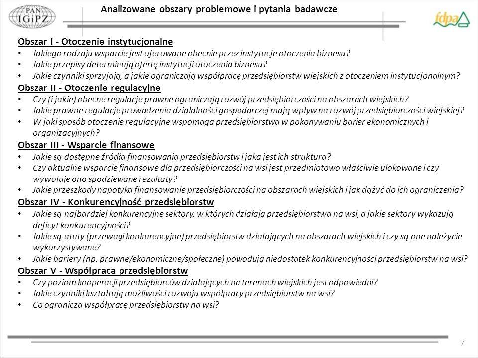 8 Diagnoza Wyniki badań kwestionariuszowych i wywiadów