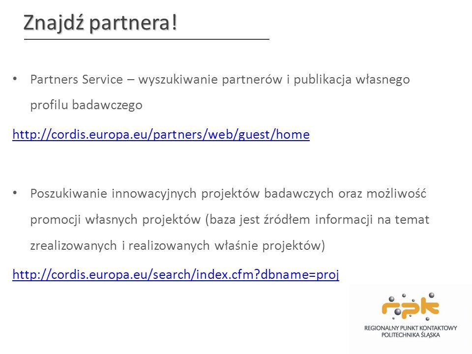 http://cordis.europa.eu /partners/web/guest/h ome