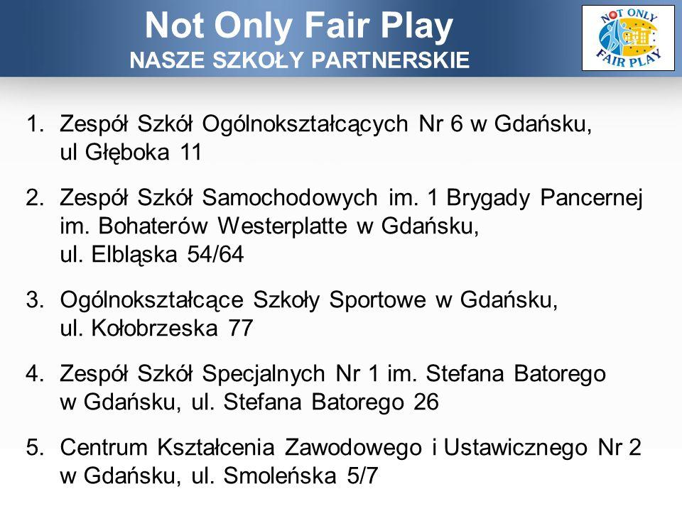 Not Only Fair Play STRONY PROJEKTU notonlyfairplay.pixel-online.org www.facebook.com/notonlyfairplay