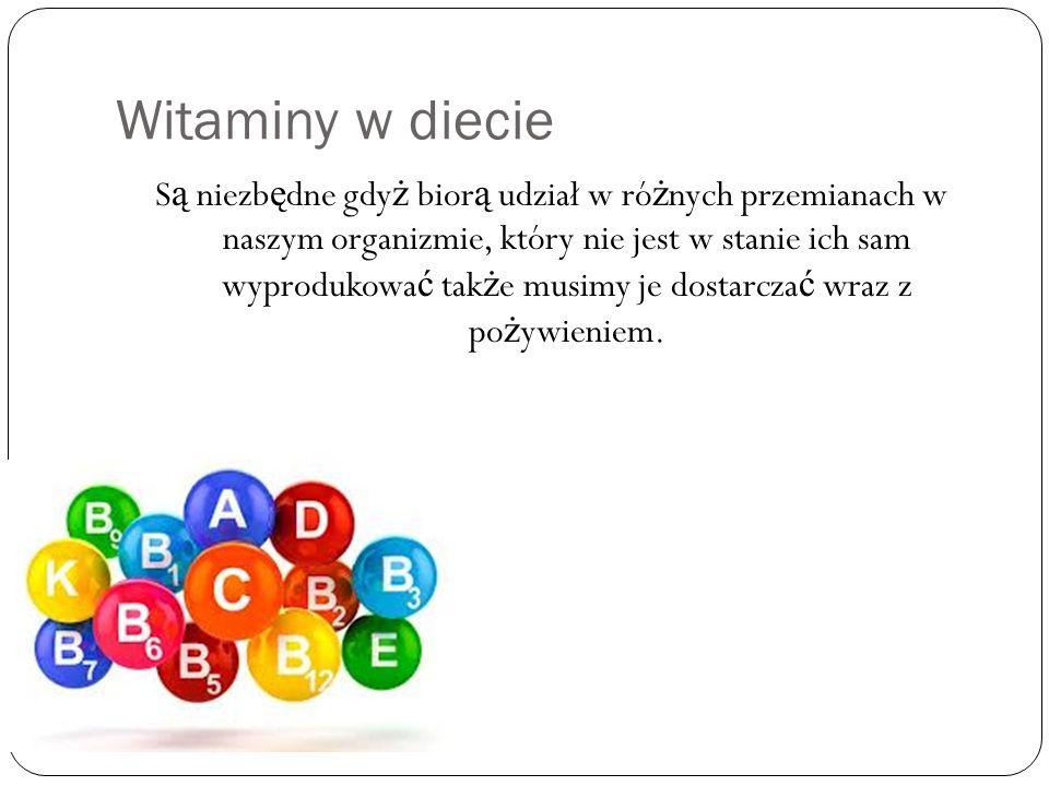 Witamina A Witamina A zapobiega kurzej ś lepocie, osłabieniu wzroku, pomaga w leczeniu wielu chorób oczu.
