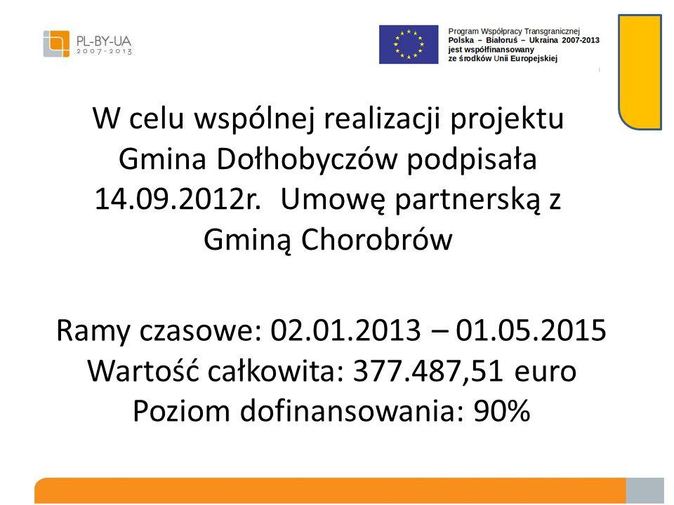 W celu wspólnej realizacji projektu Gmina Dołhobyczów podpisała 14.09.2012r.