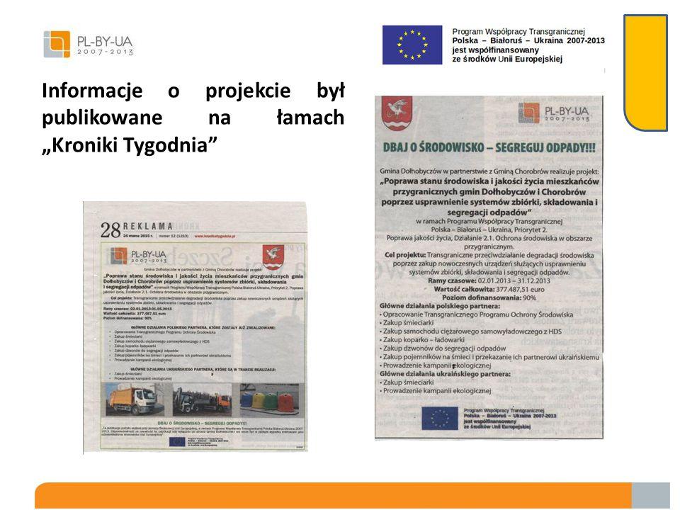 Plakaty, ulotki i foldery przekazane Gminie Chorobrów w języku ukraińskim