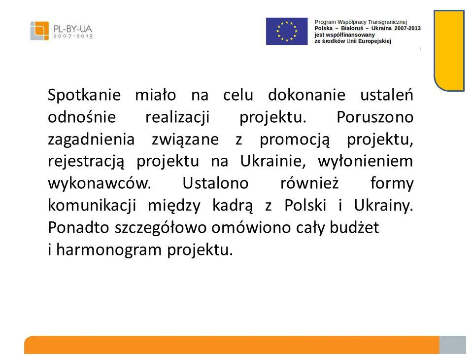 Spotkanie robocze kadry projektu oraz władz samorządowych w dniu 11.01.2013 roku Spotkanie odbyło się w siedzibie Urzędu Gminy Chorobrów. W spotkaniu