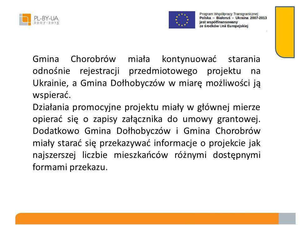 Ustalono że Gmina Dołhobyczów i Gmina Chorobrów przekażą sobie wzajemnie na nośnikach elektronicznych wszelkie dostępne opracowania dotyczące ekologii