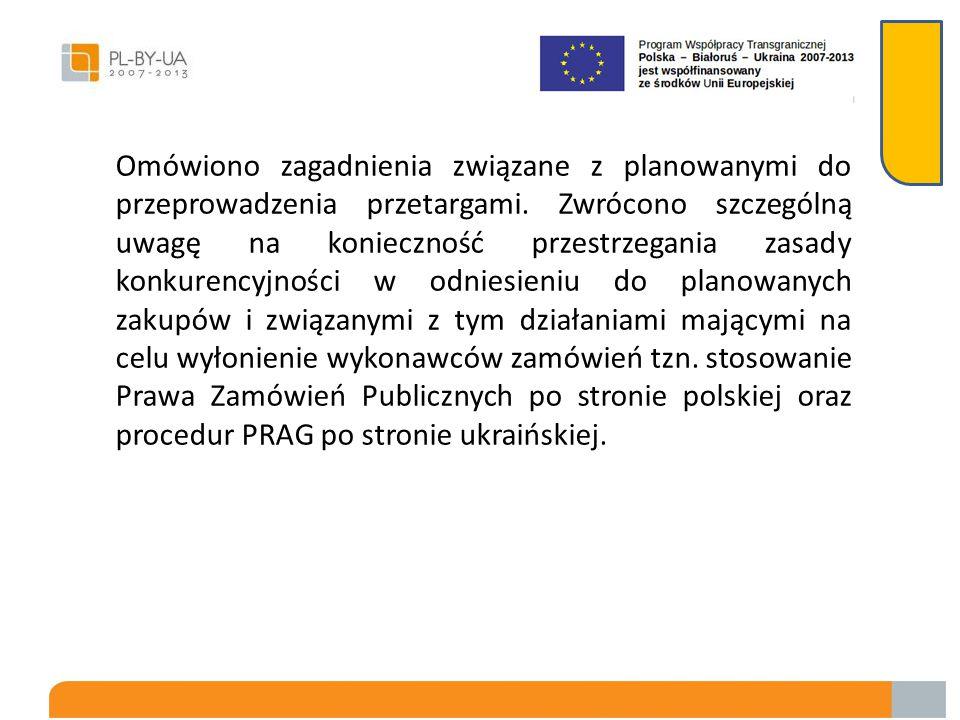 Gmina Chorobrów miała kontynuować starania odnośnie rejestracji przedmiotowego projektu na Ukrainie, a Gmina Dołhobyczów w miarę możliwości ją wspiera