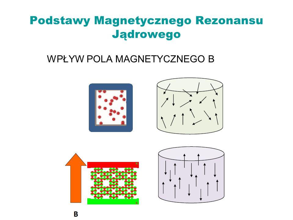 Podstawy Magnetycznego Rezonansu Jądrowego WPŁYW POLA MAGNETYCZNEGO B