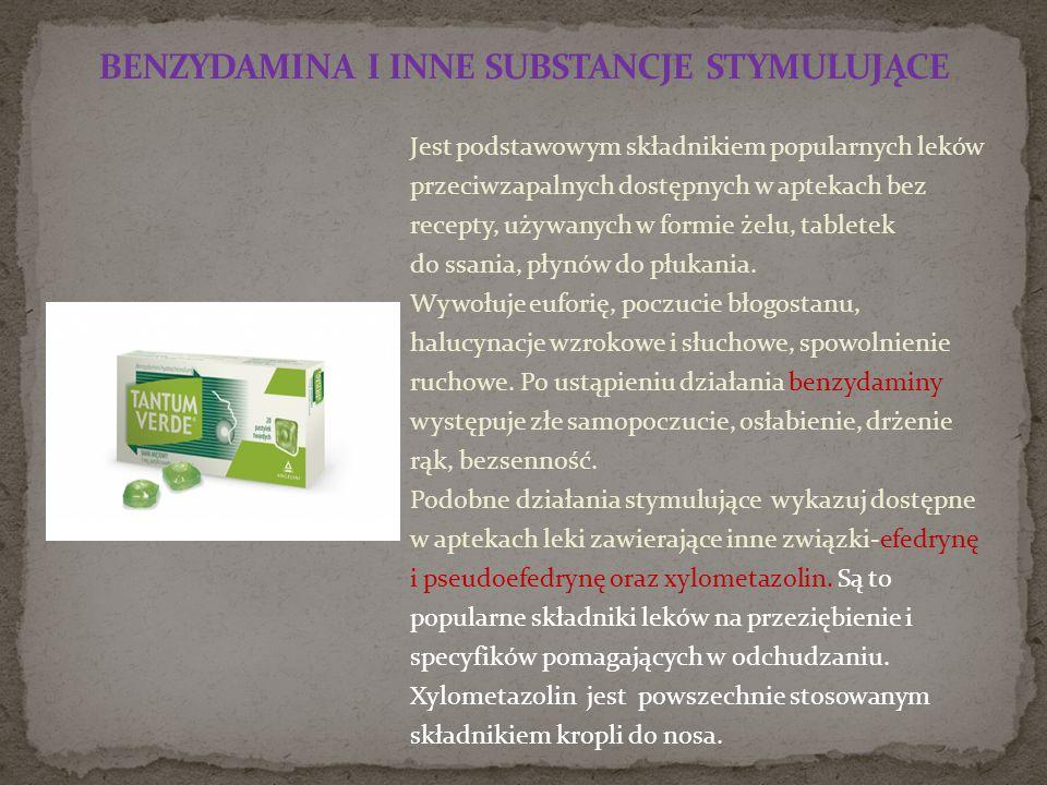 Jest podstawowym składnikiem popularnych leków przeciwzapalnych dostępnych w aptekach bez recepty, używanych w formie żelu, tabletek do ssania, płynów do płukania.
