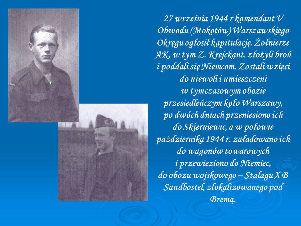 27 września 1944 r komendant V Obwodu (Mokotów) Warszawskiego Okręgu ogłosił kapitulację.