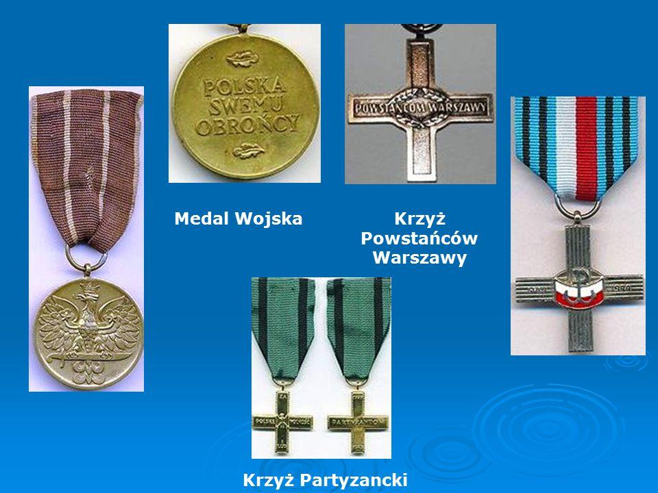 Medal WojskaKrzyż Powstańców Warszawy Krzyż Partyzancki