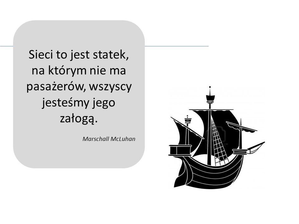 Sieci to jest statek, na którym nie ma pasażerów, wszyscy jesteśmy jego załogą. Marschall McLuhan