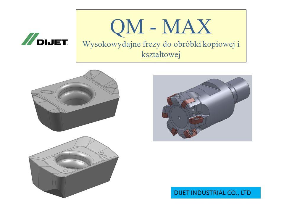 QM - MAX Wysokowydajne frezy do obróbki kopiowej i kształtowej DIJET INDUSTRIAL CO., LTD