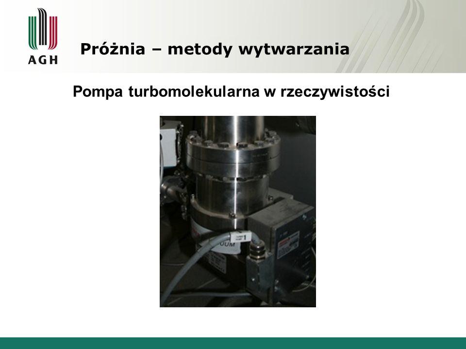 Próżnia – metody wytwarzania Pompa turbomolekularna w rzeczywistości