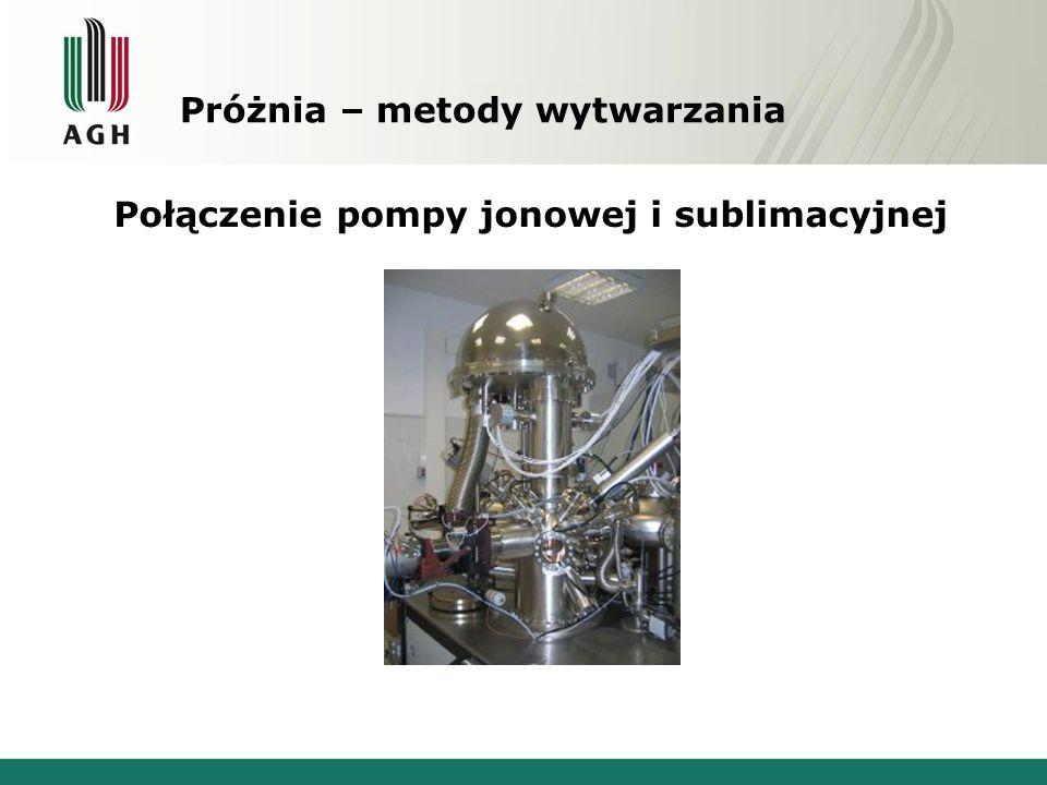 Próżnia – metody wytwarzania Połączenie pompy jonowej i sublimacyjnej