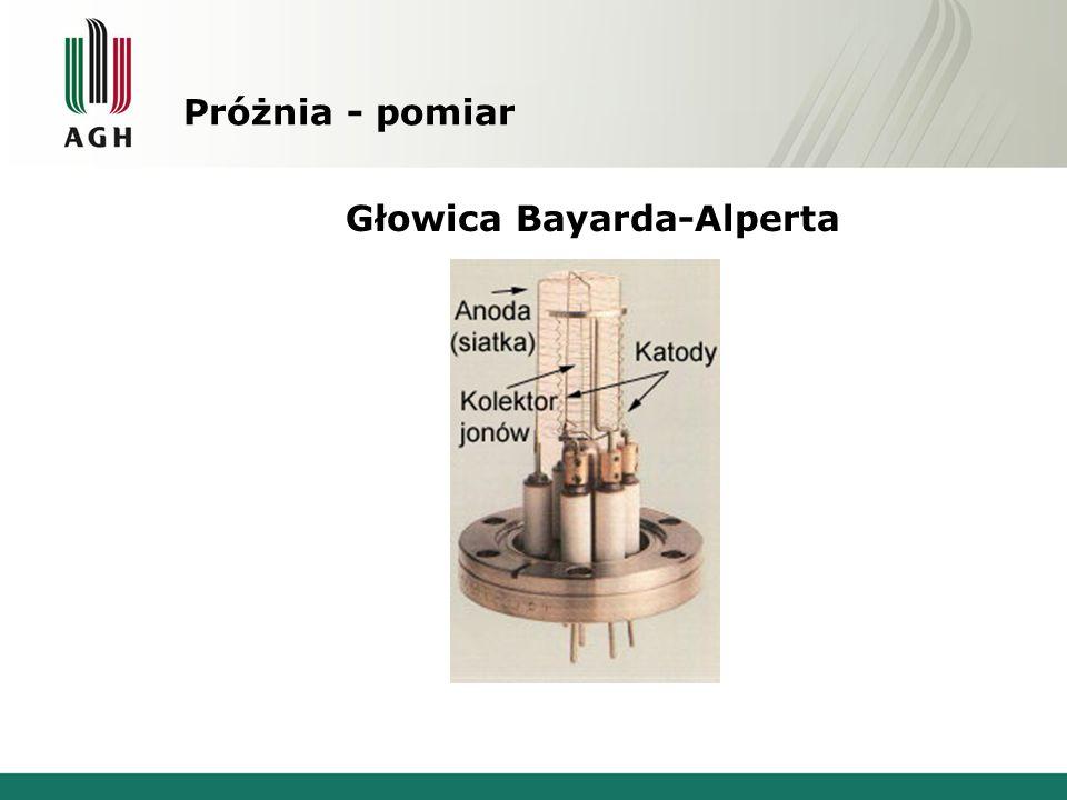 Próżnia - pomiar Głowica Bayarda-Alperta