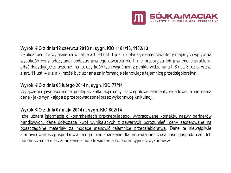 Wyrok KIO z dnia 12 czerwca 2013 r., sygn.