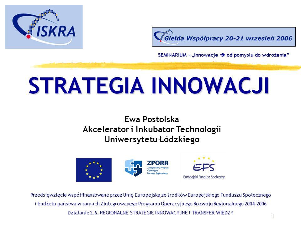 31 Ewa Postolska Akcelerator i Inkubator Technologii Uniwersytetu Łódzkiego oraz Centrum Innowacji Uniwersytetu Łódzkiego ul.