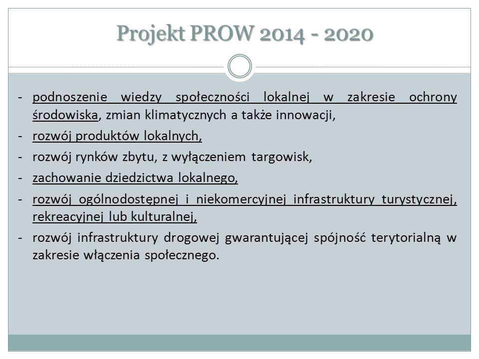 Projekt PROW 2014 - 2020 -podnoszenie wiedzy społeczności lokalnej w zakresie ochrony środowiska, zmian klimatycznych a także innowacji, -rozwój produ