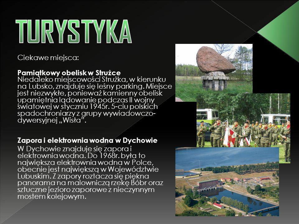 Ciekawe miejsca: Pamiątkowy obelisk w Strużce Niedaleko miejscowości Strużka, w kierunku na Lubsko, znajduje się leśny parking. Miejsce jest niezwykłe