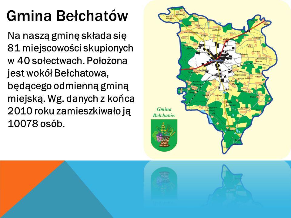 Gmina Bełchatów Na naszą gminę składa się 81 miejscowości skupionych w 40 sołectwach.