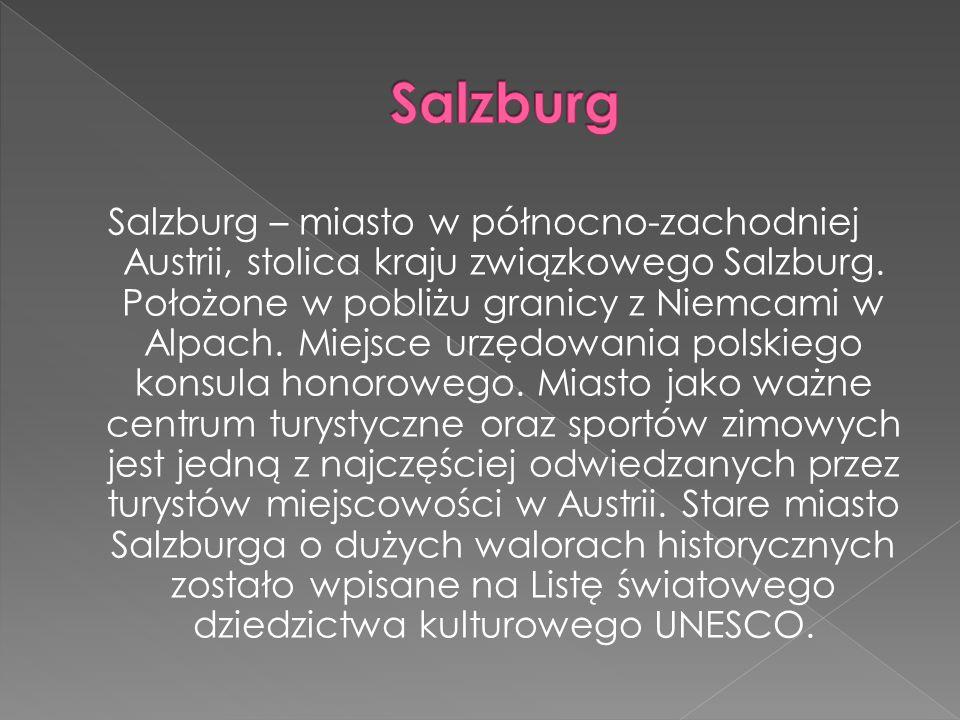 Salzburg – miasto w północno-zachodniej Austrii, stolica kraju związkowego Salzburg.