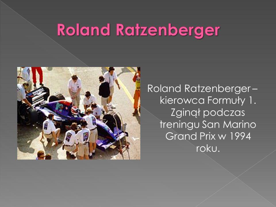 Roland Ratzenberger – kierowca Formuły 1.