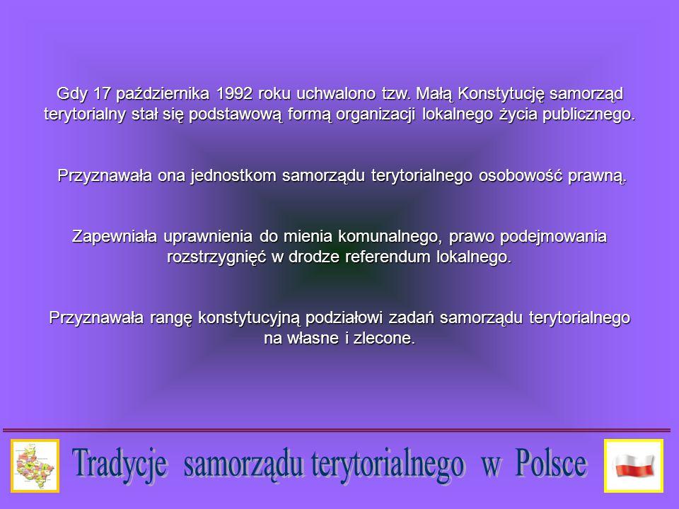 Gdy 17 października 1992 roku uchwalono tzw.