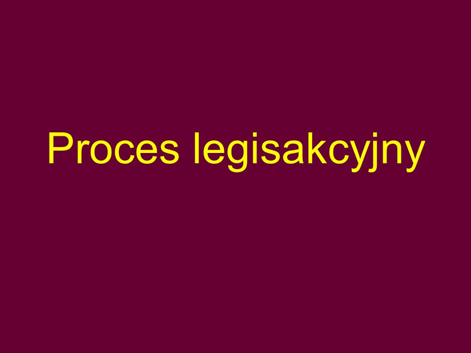 Proces legisakcyjny