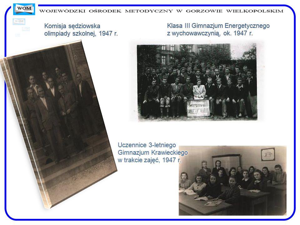 """Przedstawienie teatralne """"Karpaccy górale w wykonaniu Zespołu Teatralnego ZNP w Gorzowie Wlkp., 1946 Amatorski Zespół Teatralny przy 3-letnim Gimnazjum Krawieckim, 1948 r."""