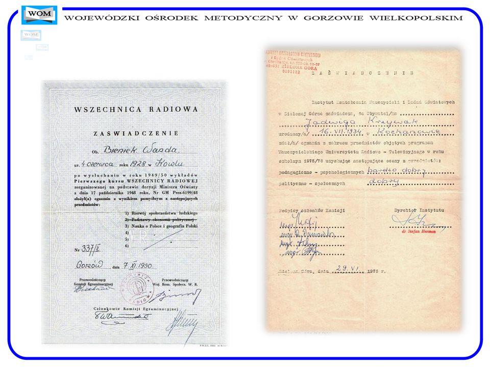 Dyplom ukończenia Studium Nauczycielskiego w Zielonej Górze, 1961 r.