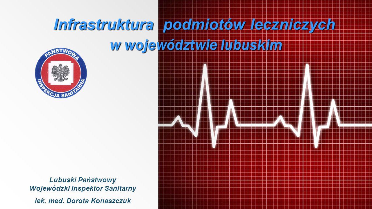 Infrastruktura podmiotów leczniczych w województwie lubuskim Lubuski Państwowy Wojewódzki Inspektor Sanitarny lek. med. Dorota Konaszczuk