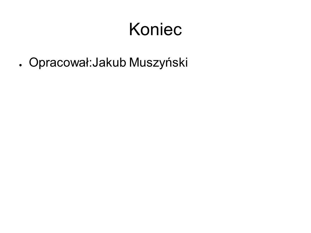 Koniec ● Opracował:Jakub Muszyński