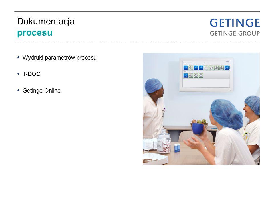 Dokumentacja procesu Wydruki parametrów procesu T-DOC Getinge Online