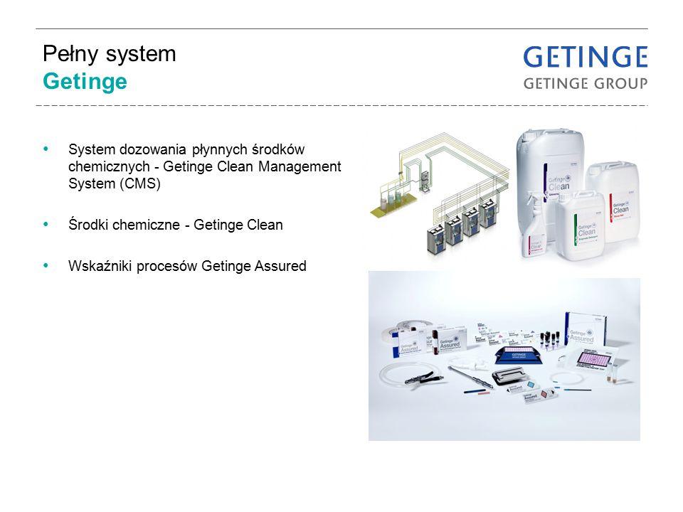 Pełny system Getinge System dozowania płynnych środków chemicznych - Getinge Clean Management System (CMS) Środki chemiczne - Getinge Clean Wskaźniki