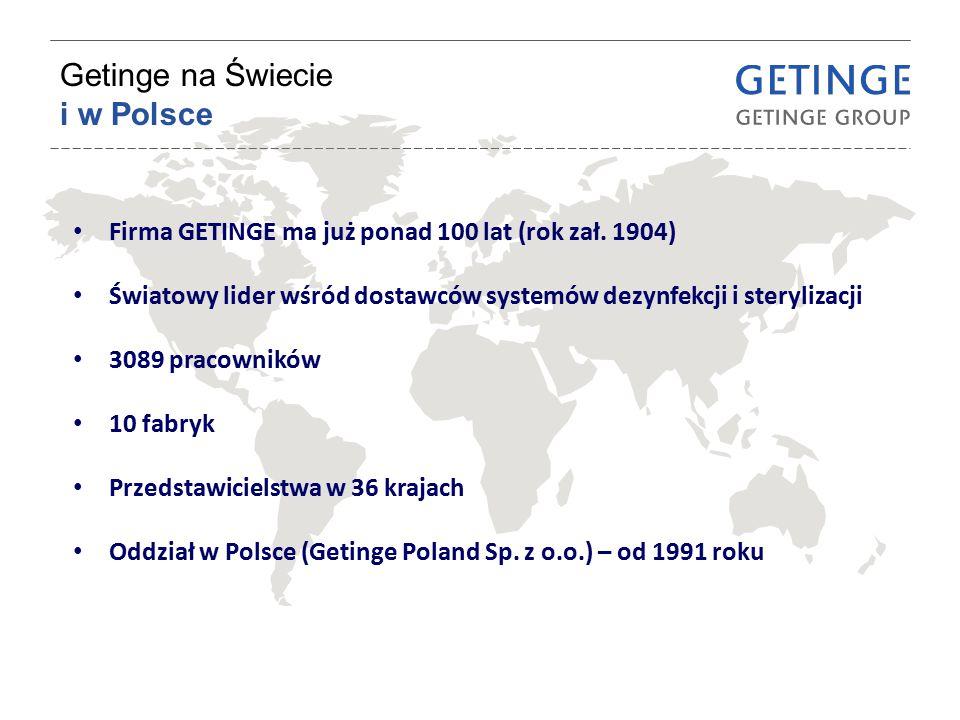 Getinge na Świecie i w Polsce Firma GETINGE ma już ponad 100 lat (rok zał. 1904) Światowy lider wśród dostawców systemów dezynfekcji i sterylizacji 30