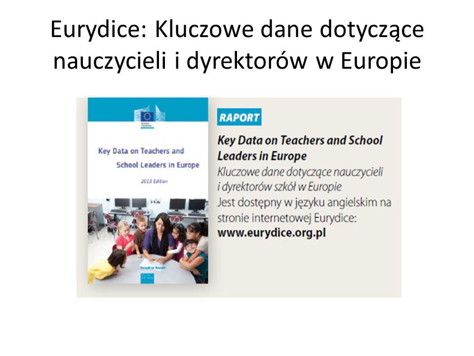 Eurydice: Kluczowe dane dotyczące nauczycieli i dyrektorów w Europie