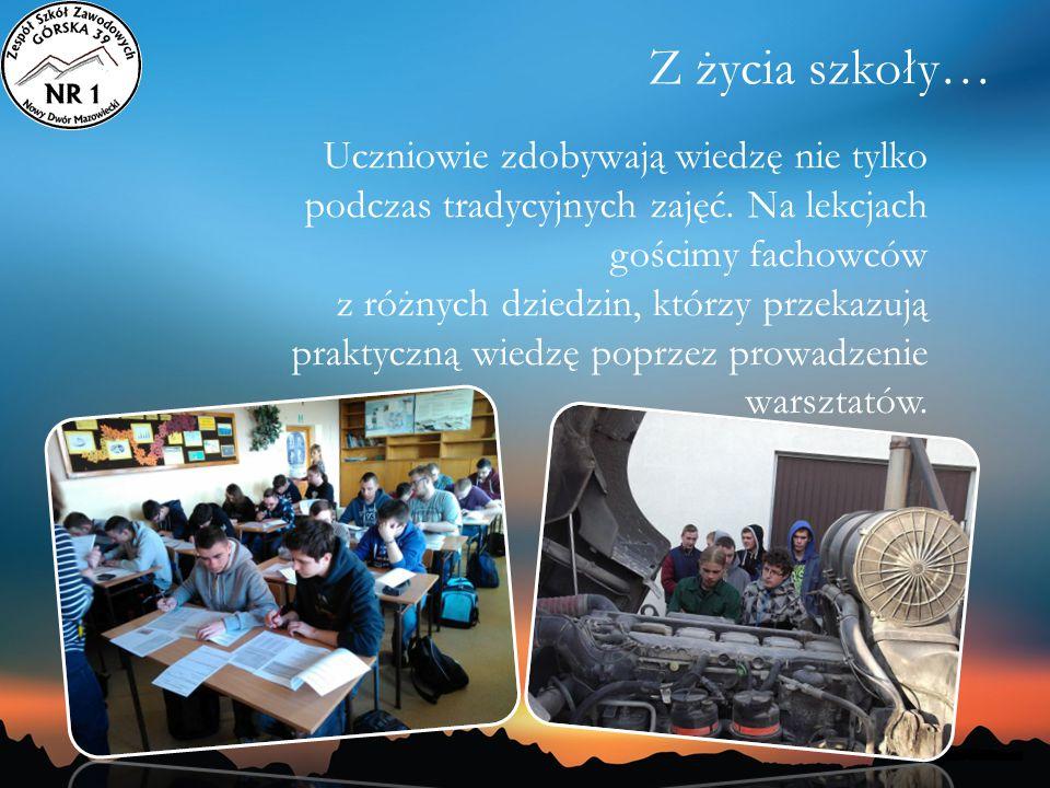 Uczniowie zdobywają wiedzę nie tylko podczas tradycyjnych zajęć. Na lekcjach gościmy fachowców z różnych dziedzin, którzy przekazują praktyczną wiedzę