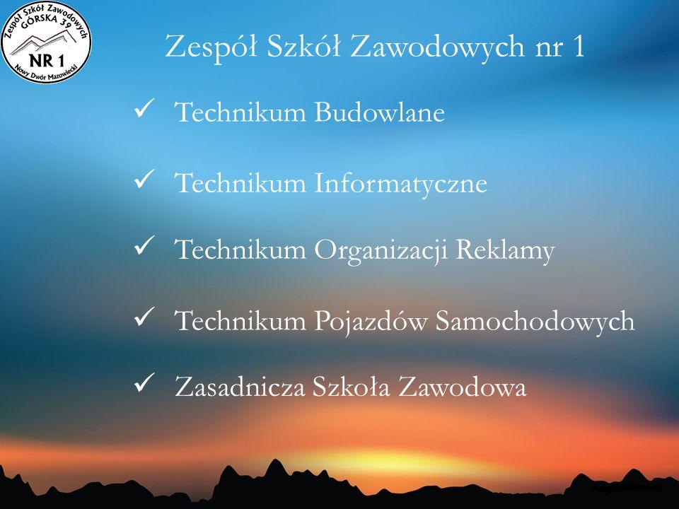 Technikum Budowlane Technikum Informatyczne Technikum Organizacji Reklamy Technikum Pojazdów Samochodowych Zasadnicza Szkoła Zawodowa Zespół Szkół Zaw