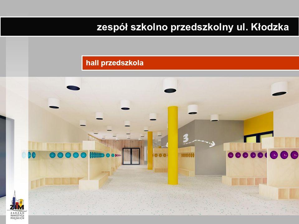 hall przedszkola zespół szkolno przedszkolny ul. Kłodzka