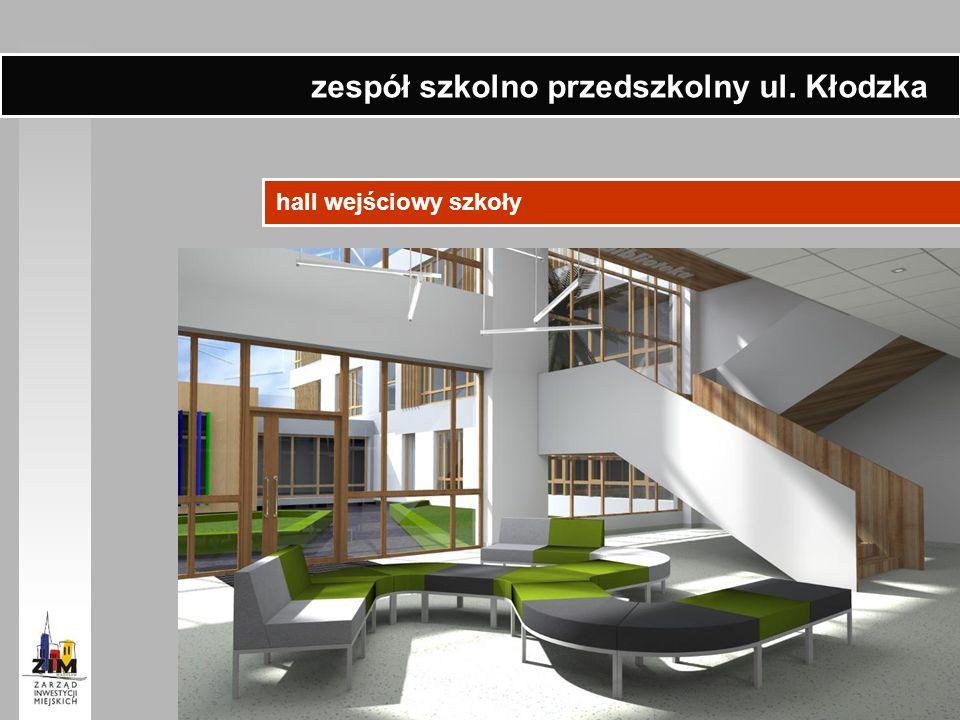 hall wejściowy szkoły zespół szkolno przedszkolny ul. Kłodzka