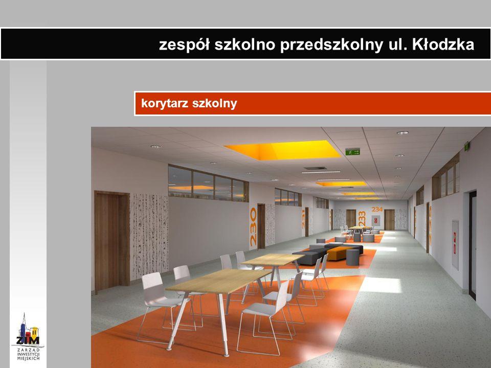 korytarz szkolny zespół szkolno przedszkolny ul. Kłodzka
