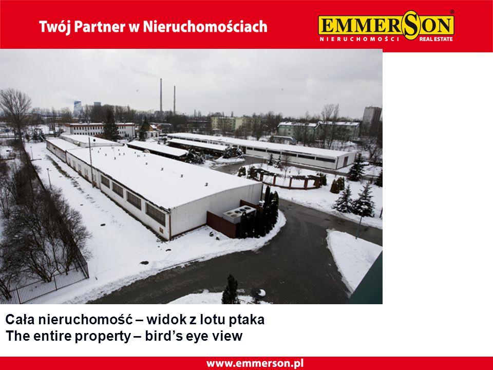 Cała nieruchomość – widok z lotu ptaka The entire property – bird's eye view
