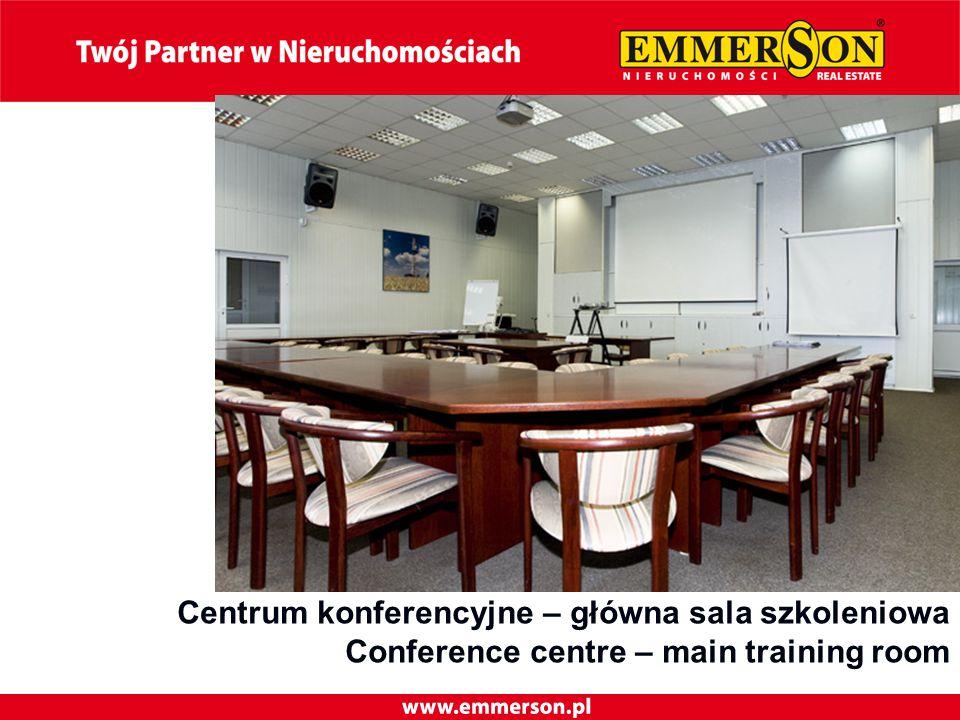Centrum konferencyjne – główna sala szkoleniowa Conference centre – main training room