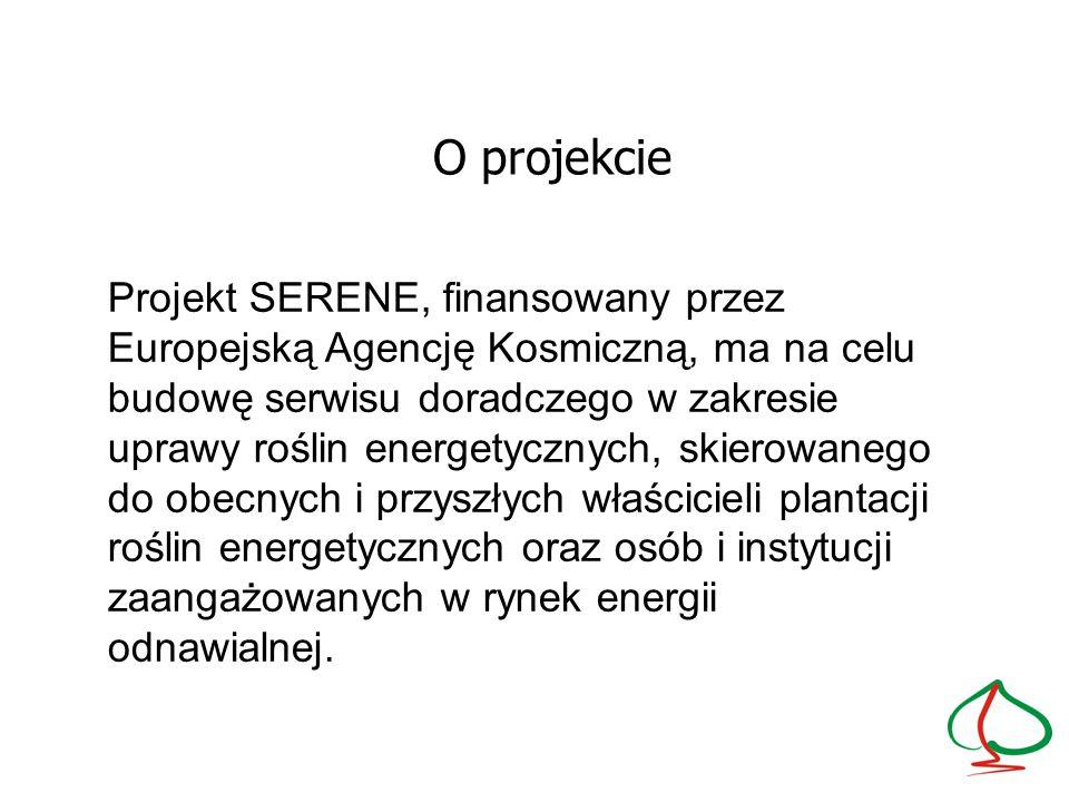O projekcie Projekt SERENE, finansowany przez Europejską Agencję Kosmiczną, ma na celu budowę serwisu doradczego w zakresie uprawy roślin energetycznych, skierowanego do obecnych i przyszłych właścicieli plantacji roślin energetycznych oraz osób i instytucji zaangażowanych w rynek energii odnawialnej.