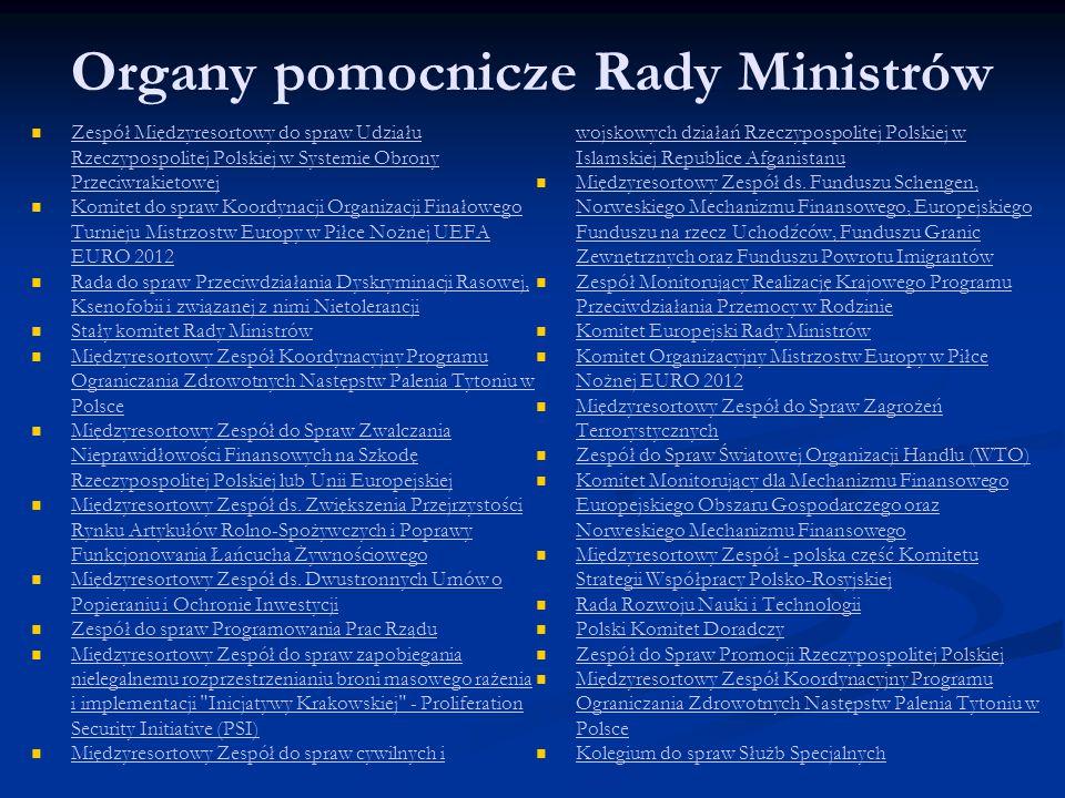 Organy pomocnicze Rady Ministrów Zespół Międzyresortowy do spraw Udziału Rzeczypospolitej Polskiej w Systemie Obrony Przeciwrakietowej Zespół Międzyre