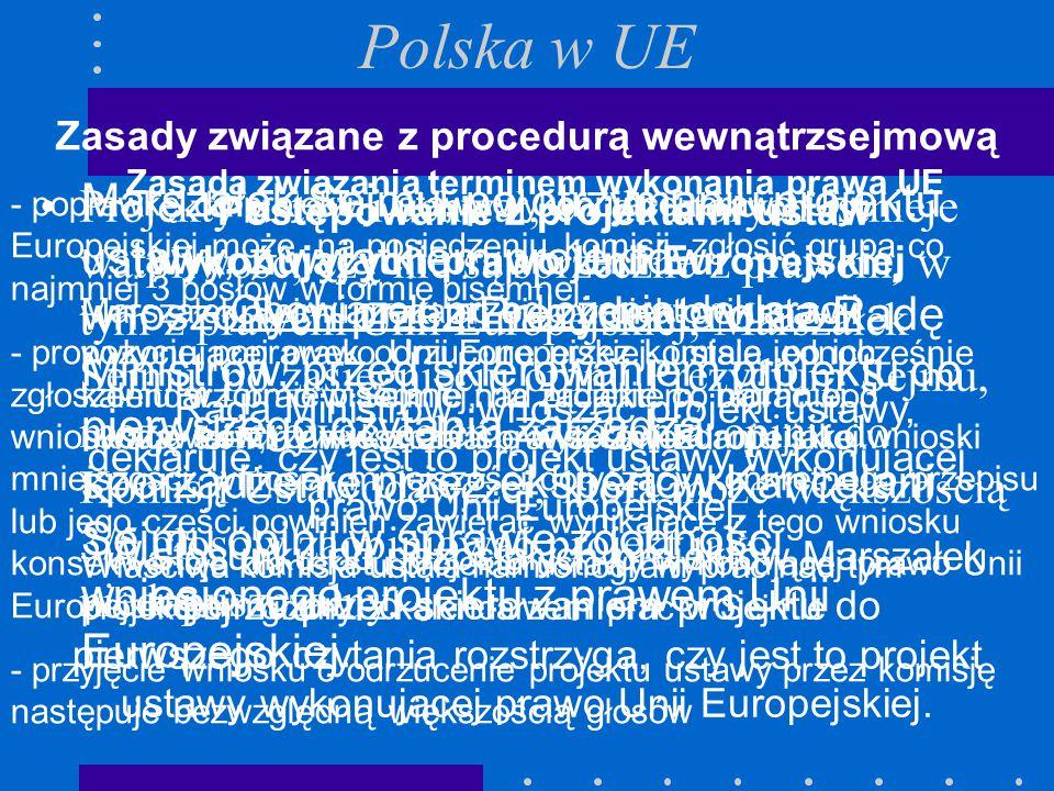 Projekty ustaw i uchwał, co do których istnieje wątpliwość, czy nie są sprzeczne z prawem, w tym z prawem Unii Europejskiej, Marszałek Sejmu, po zasię