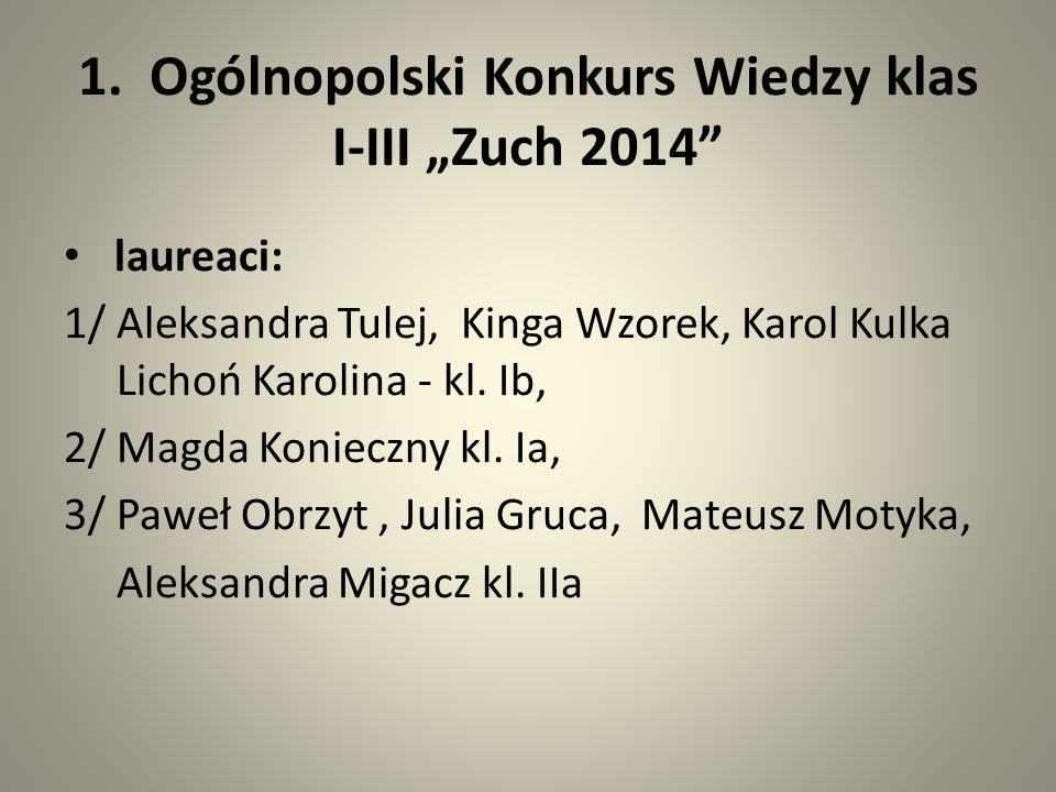 Ogólnopolski Konkurs Ortograficzny -wyróżnienie i tytuł Eksperta Ortografii – Kaja Trojanowicz kl.