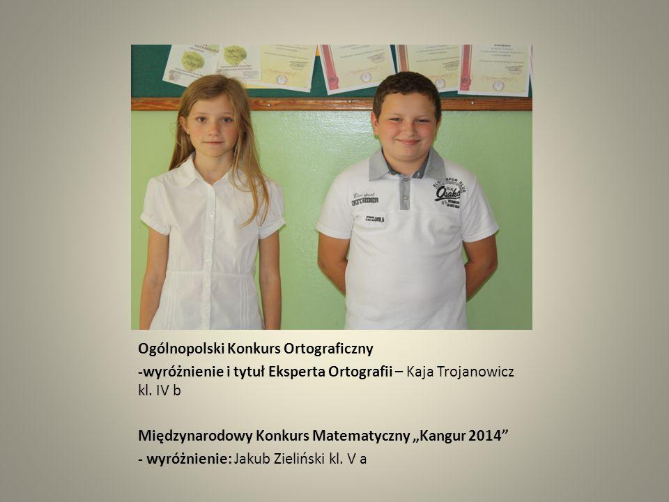 """Ogólnopolski Konkurs Języka Polskiego """"Galileo 2014 - laureaci: Edyta Jantas kl."""