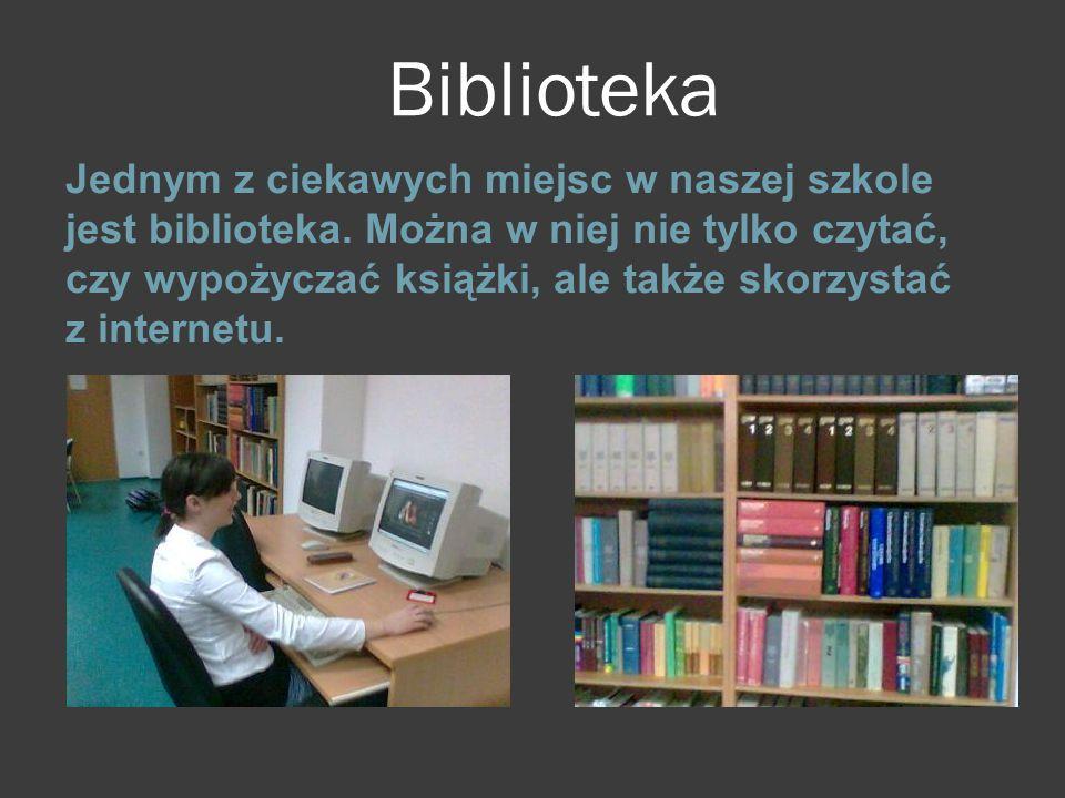 Biblioteka Jednym z ciekawych miejsc w naszej szkole jest biblioteka. Można w niej nie tylko czytać, czy wypożyczać książki, ale także skorzystać z in