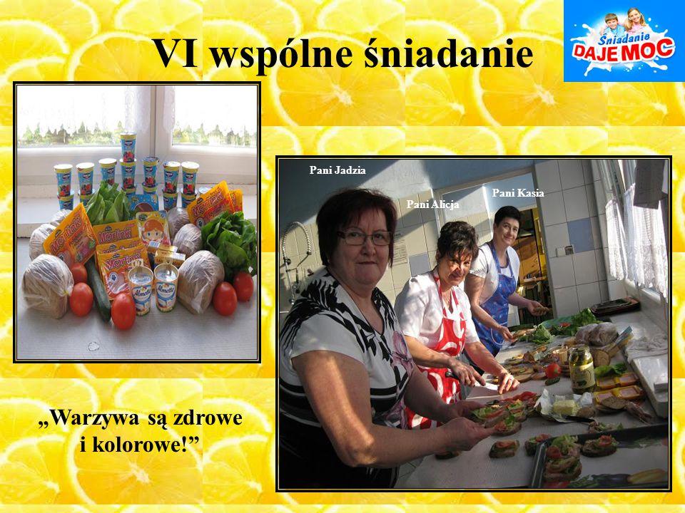 """VI wspólne śniadanie Pani Jadzia Pani Kasia Pani Alicja """"Warzywa są zdrowe i kolorowe!"""""""