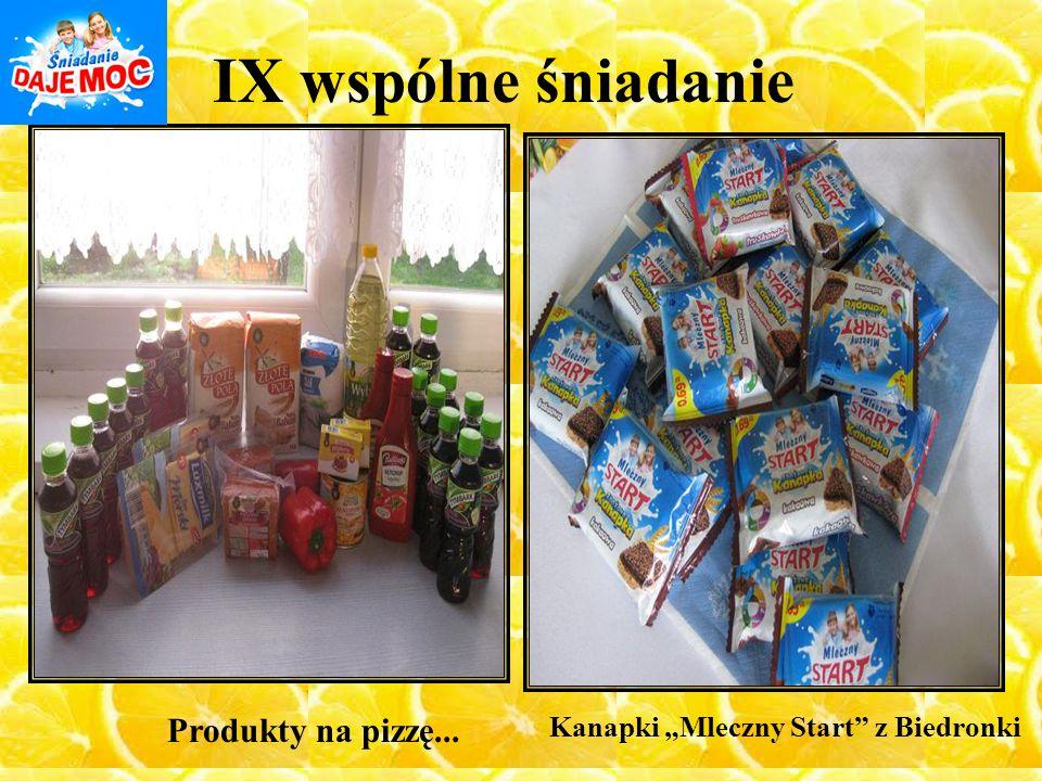 """IX wspólne śniadanie Kanapki """"Mleczny Start"""" z Biedronki Produkty na pizzę..."""